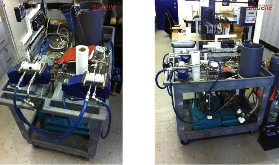 Unité de filtration à membranes à 4 compartiments