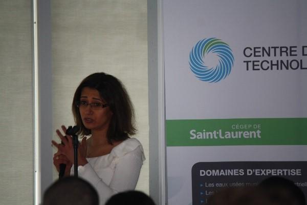 Présentation de Rimeh Daghrir, Ph.D., Chimiste, Chercheuse au CTE sur le Développement et l'optimisation de la technologie hybride WETT-G pour le traitement et le recyclage des eaux grises résidentielles