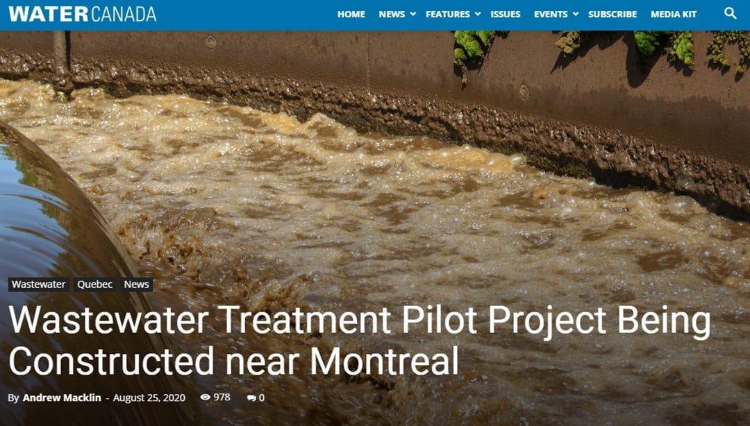 Projet pilote de traitement des eaux usées en construction près de Montréal